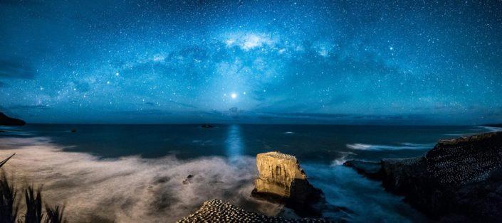 Milky way Panorama at Muriwai