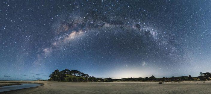 Milky way Panorama at Pakiri beach