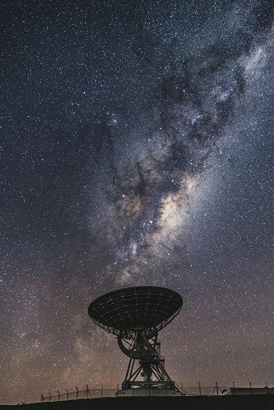 Milky way at satellite station, Warkworth