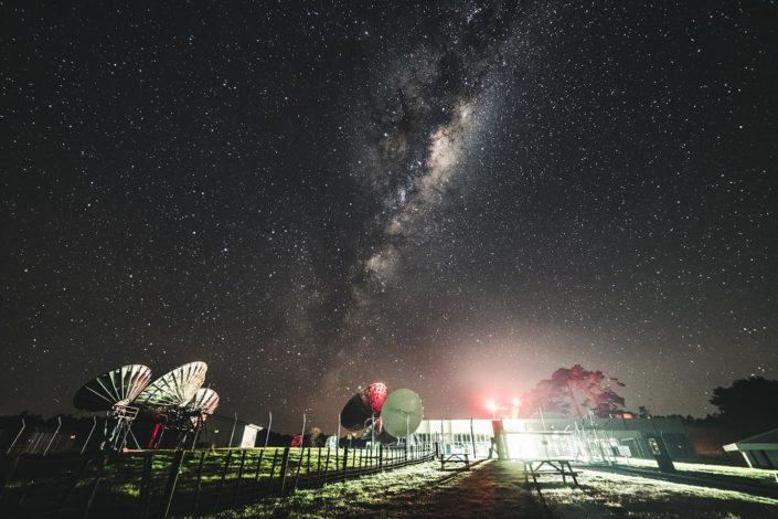 Milky way at Satellite station